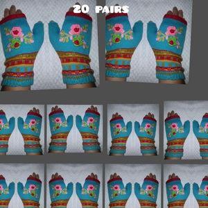 20 NEW gloves hand warmers fingerless mitt…